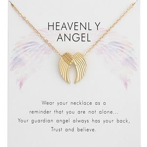 Jewelry - Inspirational Heavenly Angel Wings Charm Necklace